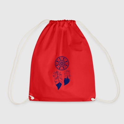 Blue Dream catcher - Drawstring Bag