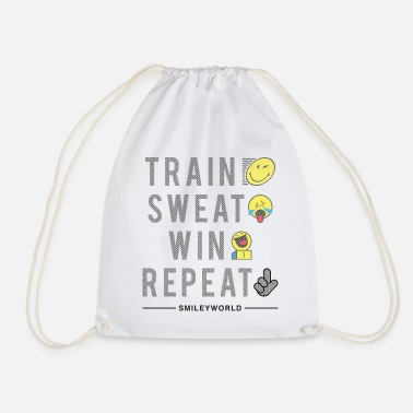 Deporte SmileyWorld Train Sweat Win Repeat - Mochila saco
