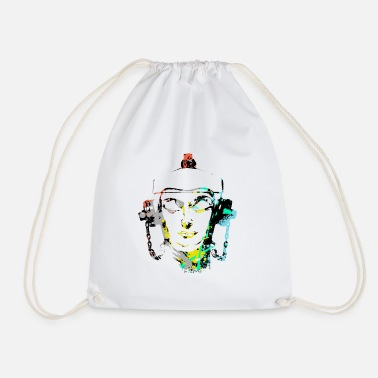 Group &amp Headset Fire Hydrant design by patjila - Drawstring Bag