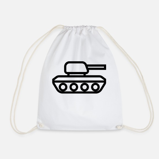 Army Bags & Backpacks - tank tank was war tanque military militaer9 - Drawstring Bag white