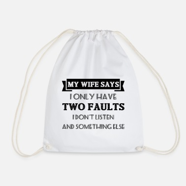 Wife wife - Drawstring Bag