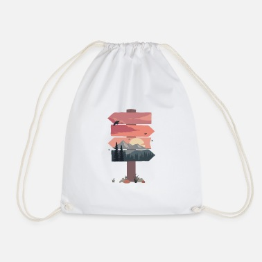 Prohibitory Sign Mountain signs - Drawstring Bag