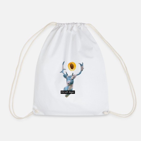 Munich Bags & Backpacks - Oktoberfest Dirndl Jäger Beer Marquee Bavaria - Drawstring Bag white