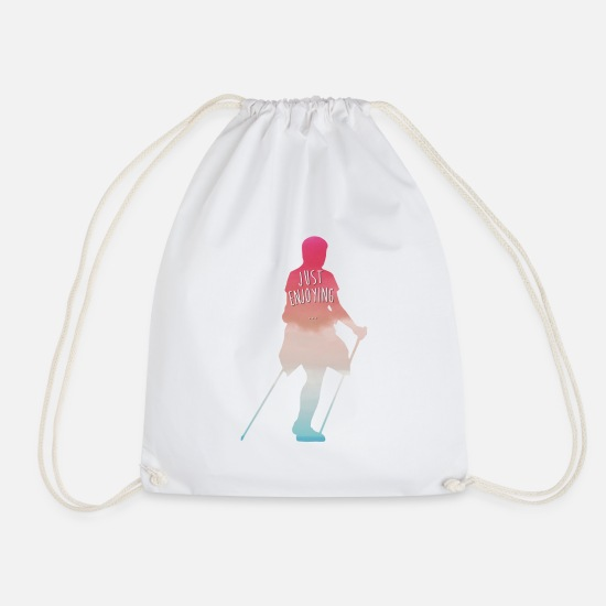 Running Bags & Backpacks - Nordic Walking Running - Drawstring Bag white