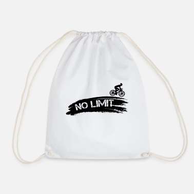 Bike Biking No Limit Sport Sporty Gift - Drawstring Bag