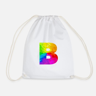 Initial Polygon B - Drawstring Bag