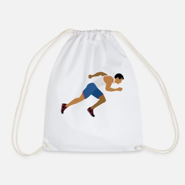Sprinting Athlete (sprinting) - Drawstring Bag