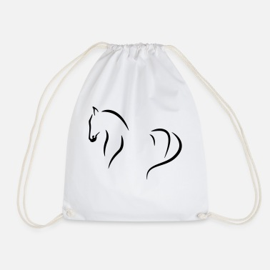 Horse abstract - Drawstring Bag