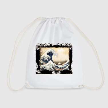 the hokusai wave reviewed by DgedeNice - Drawstring Bag