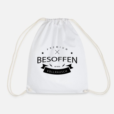 Assozial BESOFFEN - Badge - Turnbeutel