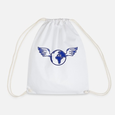 Broken earth with wings - Drawstring Bag