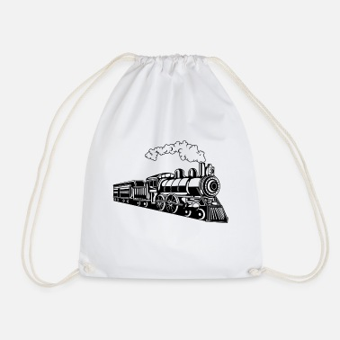 Locomotive Locomotive / Locomotive 02_black - Drawstring Bag
