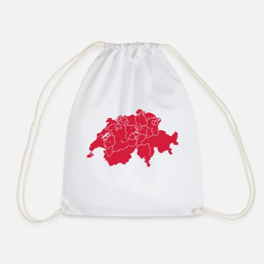 Canton Schweitz with cantons - Drawstring Bag
