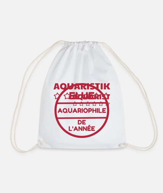 Nature Bags & Backpacks - Fishkeeping Fish Aquaristik Aquarium Aquariophilie - Drawstring Bag white