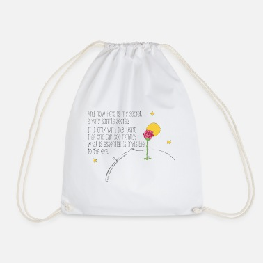 The Little Prince Quote Heart Sees Rightly - Drawstring Bag