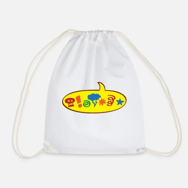 Speech Balloon Cursing bad words speech balloon - Drawstring Bag