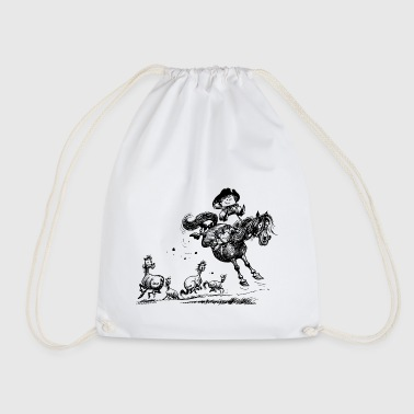 Thelwell 'Cowboy Western riding' - Drawstring Bag
