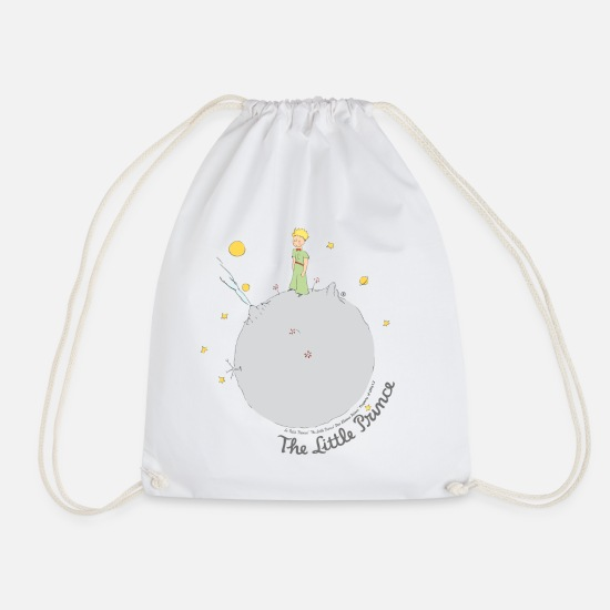 School Bags & Backpacks - The Little Prince Asteroid B612 Illustration - Drawstring Bag white