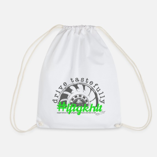 Air Cooled Bags & Backpacks - drive aircooled - Drawstring Bag white