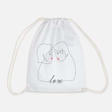 Couples Love couple - Drawstring Bag