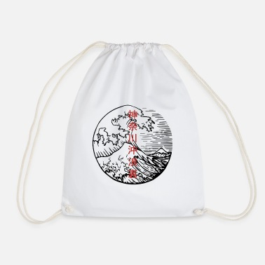 The Great Wave of Kanagawa 2 - Hokusai - Drawstring Bag
