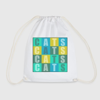 Cats Cats Cats Cats - Drawstring Bag