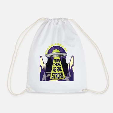 Area Area 51 Raid - UFO - Together we are strong - Drawstring Bag