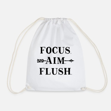 Gag Focus Aim Flush Funny Toilet Humor - Drawstring Bag