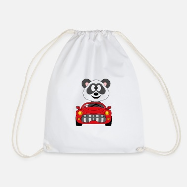 Streaker Funny panda - bear - car - convertible - car - Drawstring Bag