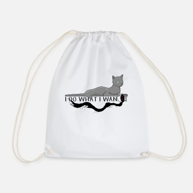 Suit Kitty cat kitten coffee - Drawstring Bag