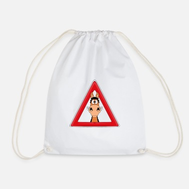 Animals Attention horse - pony - horse - riding - animal - fun - Drawstring Bag