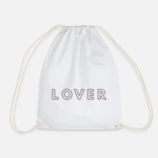 Love Bags & Backpacks - lover - Drawstring Bag white