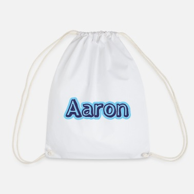 Namensschild Aaron Name Vorname - Turnbeutel