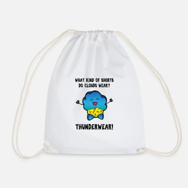 Xmas Underwear Underwear pun meteorology design shirt - Drawstring Bag