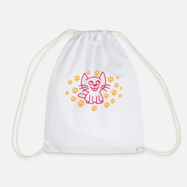Cute Cat Cute cat - Drawstring Bag