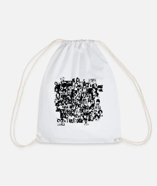 Jamaica Bags & Backpacks - 50 years of Ska and Reggae - Drawstring Bag white