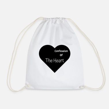 Confesses Confession of The Heart | By ClareMarie - Drawstring Bag