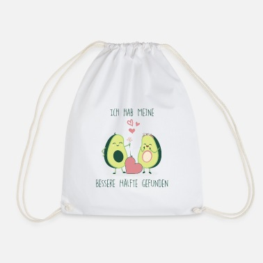 I Love Avocado Love german bio eco fresh romantic T-Shirt - Drawstring Bag