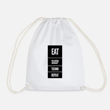 Music Music Quote Techno Korea Gift Gift Idea - Drawstring Bag