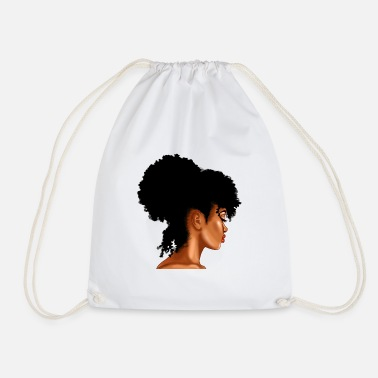 Afro Afro Puff Lady - Sac à dos cordon