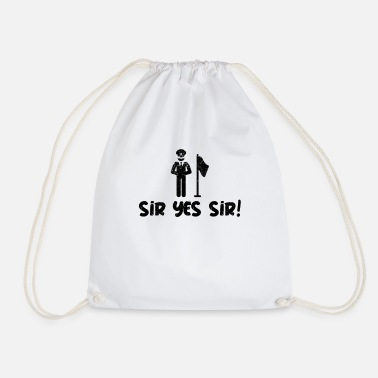 Sir Police Sir Yes sir - Drawstring Bag