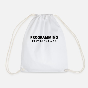 Development Funny programmer binary system coding - Drawstring Bag