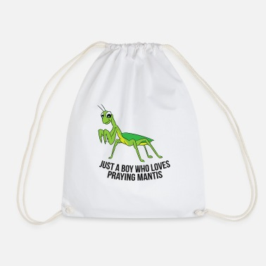 Fly-insect Just a Boy Who Loves Praying Mantis Funny Praying - Drawstring Bag