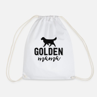 Dog Floral Dog Mom Shirts For Women Gift Golden - Drawstring Bag