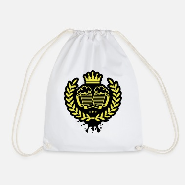 Toast beer icon wreath crown - Drawstring Bag