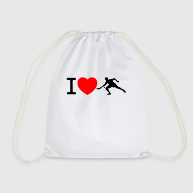 I love Ping Pong - Drawstring Bag
