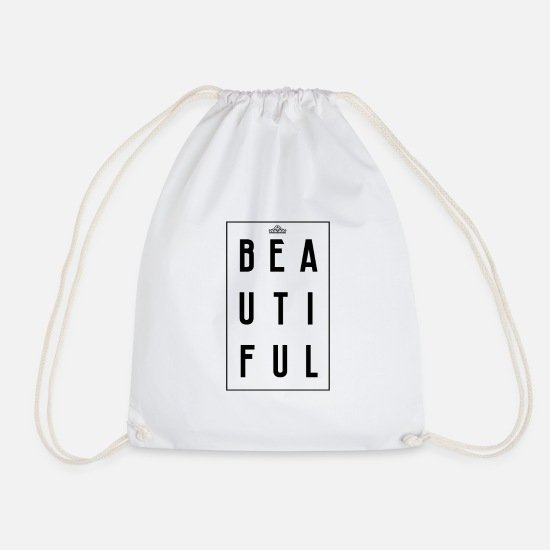 Gift Idea Bags & Backpacks - Beautiful - Drawstring Bag white