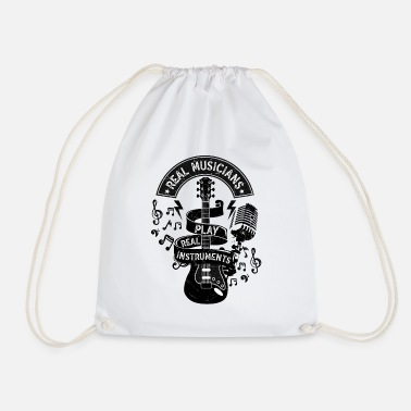 Real Musicians Play Real Instruments Rock Country - Drawstring Bag