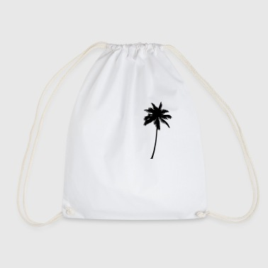 Palm Tree - Palm Tree Palm Tree Black - Drawstring Bag