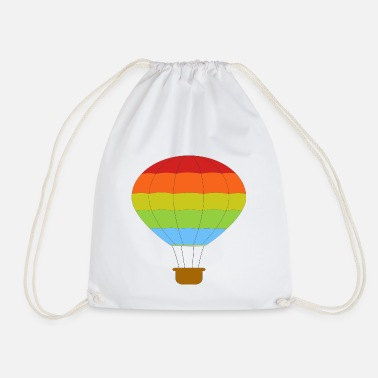 Hot Air Balloon airplane airplane plane hot air balloon air ba - Drawstring Bag
